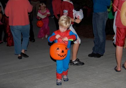 Halloween crowd
